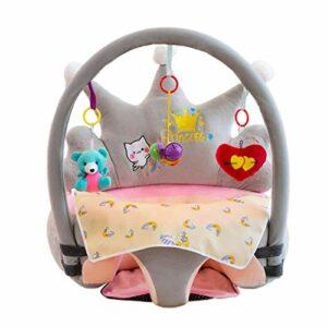 Olddreaming-Siège d'apprentissage pour bébé Chaise de support de canapé Jouet en peluche PP Rembourrage en coton élastique doux Anti-chute Rose