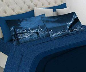 Parure de lit double – Pont by Night – Impression numérique – Fabriquée en Italie