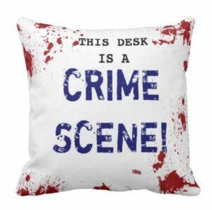 Perfecone Lot de 1 taie d'oreiller Motif scène de crime 50 x 50 cm