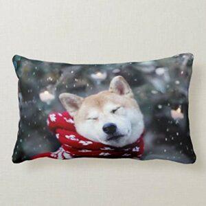 Perfecone Taie d'oreiller d'hiver pour chien et voiture 50 x 65 cm