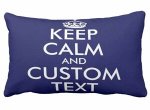 Perfecone Taie d'oreiller pour canapé et voiture Motif Keep Calm and Carry On 50 x 90 cm