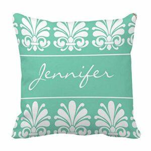 Perfecone Taie d'oreiller pour décoration de maison Motif damas féminin 45 x 45 cm