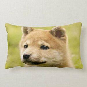 Perfecone Taie d'oreiller pour décoration de maison Motif petit chien Jaune 50 x 75 cm
