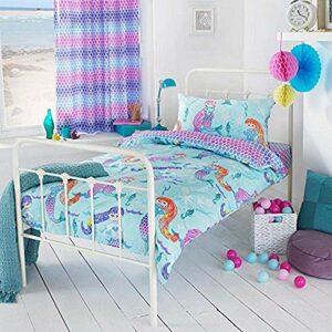Riva Home Mermaid SB D/Set Multi, Polycoton, Blau, Single