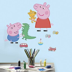 RoomMates Sticker géant repositionnable Peppa Pig et George Pig 45,7CM X 101,6CM