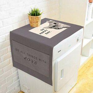 Sasecht Lettre d'impression Réfrigérateur Couvre-poussière Tissu Art House House Machine À Crampons (Color : 01, Size : 55 * 140cm)