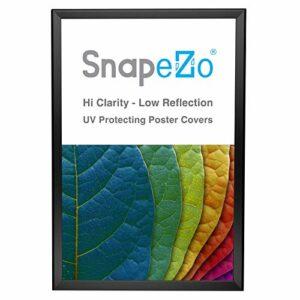 Snapezo Cadre pour Affiche 20×30, Noir, Profil en Aluminium de 1,25 Pouce,Cadre instantané à Chargement Frontal, Montage Mural, série Professionnelle