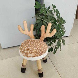 Xin Hai Yuan Tabouret pour Enfants en Bois Massif Créativité Nordique Table Et Chaise De Maternelle Tabouret Chaise Bébé Bureau Et Chaise D'école,B