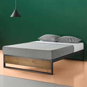 Zinus Lit à plate-forme 35,6 cm sans tête de lit Suzanne / Support de matelas/ Pas besoin de sommier/ Lit prêt à l'emploi/ Montage facile/ 90 x 190 cm