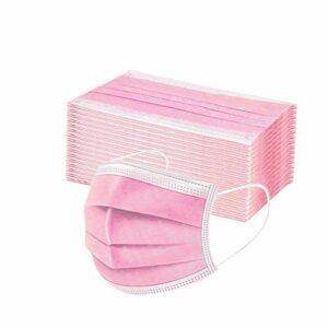 50pcs Adulte Unisexe Couleur Pure Couverture de Visage Non Imprimable Nettoyage extérieur et Protection Respirante (K)