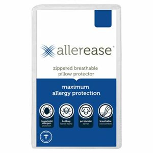 Aller-Ease Allerease maximale d'allergies et punaises des Lits Protège Oreiller, Standard/Queen