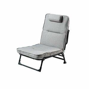 Cadre de lit Pliant avec Matelas, Matelas de Pliable, Portable Single Sleeper Lit avec Roues pour Camping Bureau Sieste, lit gîte réglable
