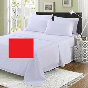 Drap de lit super king size de 1,8 m (qualité hôtelière) – 254 x 304,8 cm – 20 couleurs – 200 fils au pouce carré (rouge)