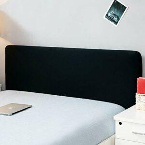 Housse de protection de tête de lit, extensible, solide, colorée – Décor de chambre à coucher – Housse résistante à la poussière, Noir , Double (47-55″)