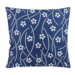 NCONCO Lot de 2 housses de coussin texturées bleues et blanches pour canapé, décoration d'intérieur