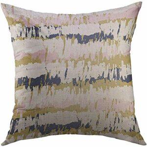 Taie d'oreiller, Peinture rayée colorée Vintage Rayures gribouillis Coups de Pinceau pour des taies d'oreiller durables Premium abstraites