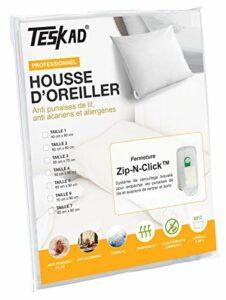 Teskad Housse d'oreiller 50 x 75 cm – Anti punaises de lit, acariens et allergènes