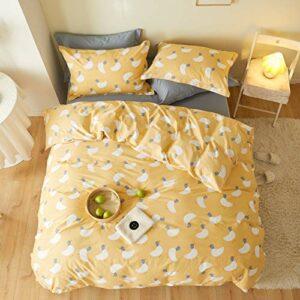 Xiaomizi Drap de lit en Coton peigné Quatre pièces avec Plusieurs spécifications