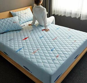 XLMHZP Profondeur-Protège-Matelas,Bed Mattress Thick Soft Pad Quilted Waterproof Mattress Protector Fitted Sheet Style Cover for Bed Comfort-J_120x200cm+30cm
