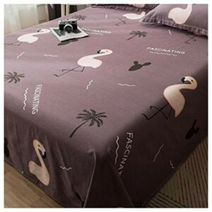 ZWYSL Drap de lit Facile d'entretien, Drap Plat Doux, Simple, Double, literie en Poly-Coton résistant au rétrécissement et à la décoloration, Respirant (Color : N, Size : 200 * 230cm)