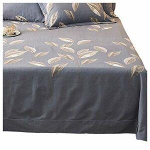 ZWYSL Literie en Coton peigné de qualité Feuille Plate résistante au rétrécissement et à la décoloration pour lit Simple ou Double – Easy Care (Color : I, Size : 160 * 230cm)