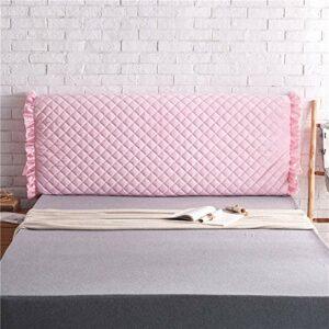 zyl Housse De Tête De Lit,Protection en Tissu Protecteur De Chevet Anti-poussière Couvertur épaissie Soft Pack Anti-Collision Coussin Dossier Décor Cover Lavable,PinkB-210cm