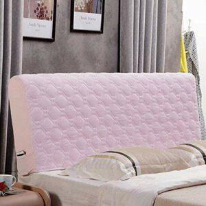 zyl Housses De Tête De Lit TêTe De Lit De Couvre, Couverture De Tête De Lit Protecteur Housse Décorative Chambre à Coucher épaissi Pack Souple Anti-poussière Couvertur Stretch Housse,Pink-180cm