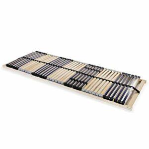 HUANGDANSP Sommier à Lattes avec 42 Lattes 7 Zones 70 x 200 cm Meubles Lits Accessoires Lits Cadres de lit