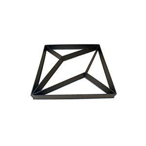 LEMLIT Rhombus Shaped Walk Path Maker Mold Diamond-Shaped Concrete Paver Mold Concrete Cement Stepping Stone Mold for Garden Park