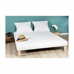 By sommiflex Sommier tapissier 120x190cm Fabrique en France Pieds Fabrication Francaise