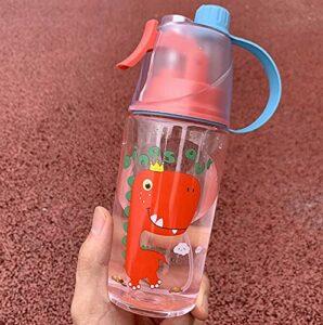 CHENSTAR pulvérisation Eau Tasse d'eau étudiante Grande capacité de Loisirs gobelet de Loisir Sports d'été Fitness Plastique Plastique Bouteille d'eau Portable d'enfants