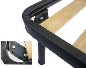 Eminflex Lot de 4 Pieds de lit en Fer avec Double Boulon, 45 cm