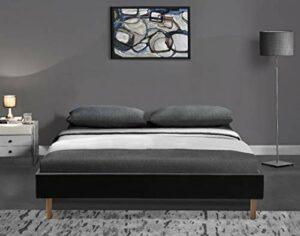 King of Dreams Gregory – Solide et Confortable Sommier Tapissier Marron + Pieds en 20 cm pour Matelas en 120×200-2 x 13 Lattes – Montage Rapide et Facile – revetement PVC Facile d'entretien