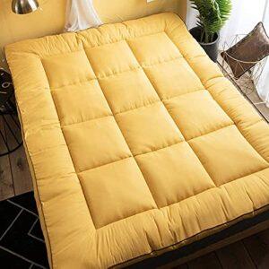 Matelas traditionnel Tatami Futon – Taille complète – En coton épais – Pliable – Pour dortoirs d'étudiants.