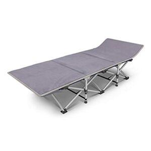 SHUILV Lit Pliant canapé-lit Incline Chaise aînée Adultes Camping Beach lit lit de Couchage pour randonnée Voyage à Domicile (Couleur: Tube Rond + Tissu Oxford + Coussin) (Color : Gray)