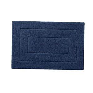 Tapis De Bain Non-slip De Bain Doux Tapis Très Épais Eau Absorbent Durable Douche Tapis 90x60cm Bleu