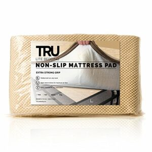 TRU Lite Bedding Protège-matelas antidérapant extra fort – Sécurise les moquettes et les meubles – Facile à installer – Taille double – Pour tapis de 91,4 x 182,4 cm