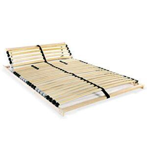 VIENDADPOW Lits & Cadres de lit Sommier à Lattes avec 28 Lattes 7 Zones 140 x 200 cm