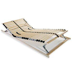 VIENDADPOW Lits & Cadres de lit Sommier à Lattes avec 28 Lattes 7 Zones 80 x 200 cm