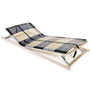 VIENDADPOW Lits & Cadres de lit Sommier à Lattes avec 42 Lattes 7 Zones 80 x 200 cm