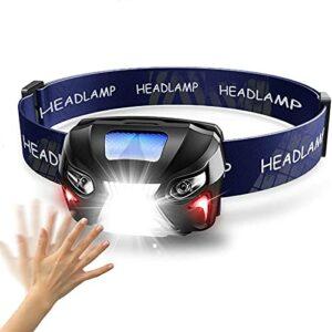 20000LM Puissance Puissel Puissel HeadLamp Rechargeable LED LED Capteur de mouvement Capteur de la lampe de poche Camping Camping Torch Lampe lumineuse avec USB