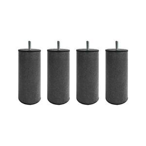 4 Pieds cylindriques métal Graphite 15 cm
