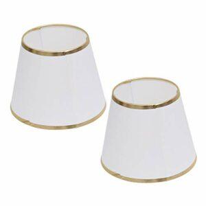 Abat- jour pour lampe de table, 2 pcs abat- jour en tissu de couleur pure doré couvercle de lampe couverture fait main moderne abat- jour lampe de couverture lampes de remplacement fournitures