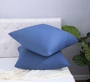 AYSW 18 Couleurs Lot de 2 Taie d'oreiller 65 x 65cm en Microfibre Fermeture Éclair Housse d'oreiller Anti-Acariens Hypoallergénique Zip