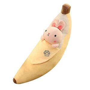 Bonways Mignon Jouet en Peluche Banane Oreiller Peluche Coussin Peluche Cadeau d'anniversaire de Jouet pour Enfants