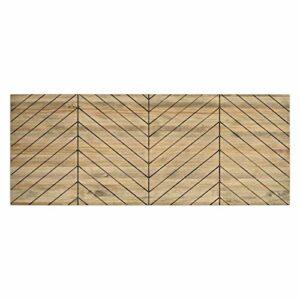 DS Dropshipping Tête de lit double 150 x 60 cm Motif chevrons en bois de pin Finition vintage