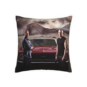 Dxddsdks Housse de coussin Fast Furious – Impression 3D – Doux et confortable – 45,7 x 45,7 cm