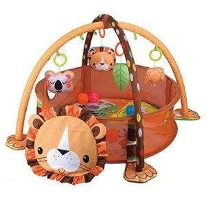 Edinber Piscine à balles multifonctionnelle pour bébé, tapis d'activité créatif pour bébé avec 30 balles de l'océan, jouets éducatifs, développement des compétences pour nouveau-nés