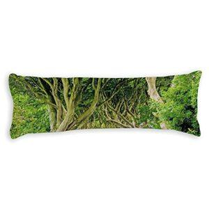 happygoluck1y Housse de coussin de corps vert foncé – 50 x 150 cm – Pour adolescentes, filles et femmes
