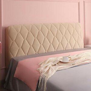 Housse De Tete De Lit 160/140/180 Extensible Housse Tête De Lit De Protection Anti-poussière pour tête de lit rembourrée en Tissu Tout Compris (Color : Camel, Size : 160cm(63″))
